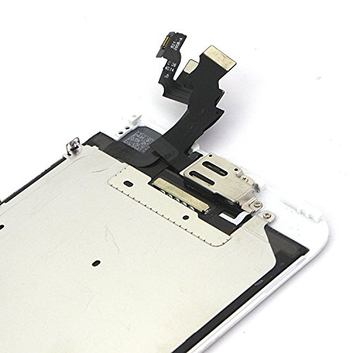 For iPhone 6 Plus Digitizer Screen Replacement White - Ayake 5.5'' Full LCD Display Assembly with Home Button, Front Facing Camera, Earpiece Speaker Pre Assembled and Repair Tool Kits by Ayake (Image #5)