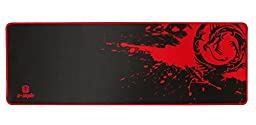 Sean XXL Professional Large Mouse Pat & Computer Game Mouse Mat (35.43\'\'W x 11.81H x 0.12TH) (Dragon - Red)