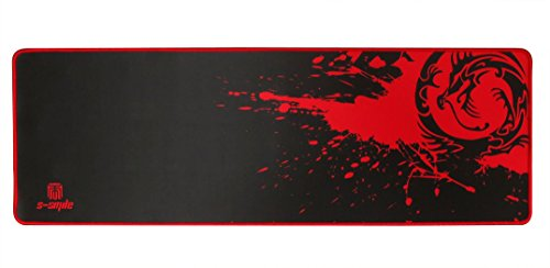 Sean XXL Professional Large Mouse Pat & Computer Game Mouse Mat (35.43''W x 11.81H x 0.12TH) (Dragon - Red)