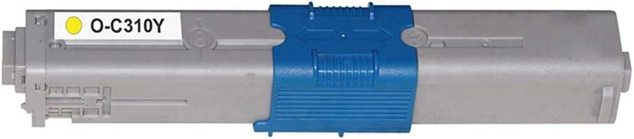 Yellow, 1 Pack Ninjatoner Compatible Toner Cartridge Replacement for Okidata 44469701 for Oki C310 C310dn C330dn C530dn MC361 MC561 MC562 MC562dn C510dn C511dn MC351dn MC352DN MC362DN MC362W
