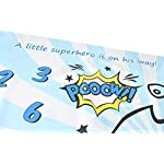 Baby-Monthly-Milestone-Blanket-for-Newborn-Boy-Girl-Personalized-Infant-Swaddle-Receiving-Blankets-Photography-Backdrop-Photo-Prop-New-Mom-Baby-Shower-Gifts-Frame-Superhero-Blanket-40-x-40