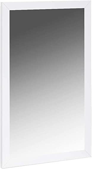 World Mod Modern Eddy Mirror, High gloss White