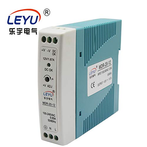 MDR-20-15 CE RoHS 2 Years Warranty 20W 15v 1.34A din Rail Power Supply 85-264VAC Input Utini