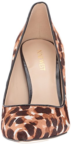 Nine West Womens Tatiana Pony Dress Pump Black Kenya Cheetah/Brown
