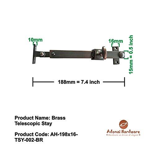 Adonai Hardware Brass Telescopic Casement Sliding Window Stay (Oil Rubbed Bronze)- Supplied as 2 Pieces per Pack by Adonai Hardware (Image #2)