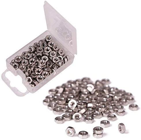 Shapenty 100PCS 3mm Small Stainless Steel Female Thread Hex Screw Nut Fastener Tool, M3