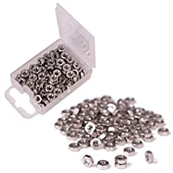 Shapenty 100PCS 3mm Small Stainless Stee...