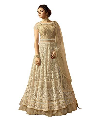 (Delisa Indian\Pakistani Wear Anarkali Suit and Party Wear Suit for Women (Seashell, M-40))