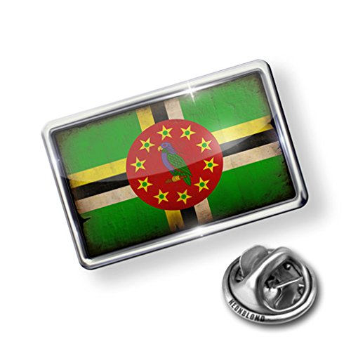 new Pin Dominica Flag with a vintage look - Lapel Badge - NEONBLOND on sale