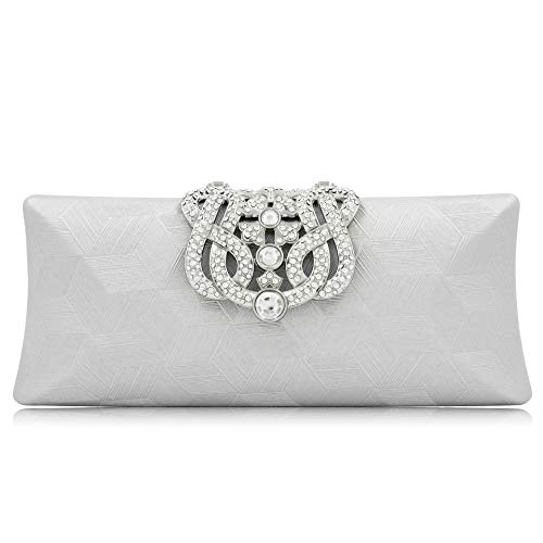Lady Crystal White Diamond Wedding Bag Party Purses Evening Clutch Purse Bridal Diamond Clutch Minaudiere wBR7xOwqr