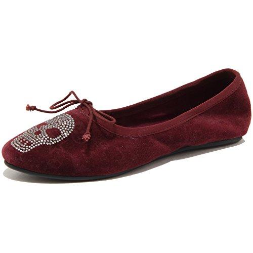 Donna Velvet Women Shoes Bordeaux Scarpa Joe Vintage Ballerina 86659 Ash xOSHqw4Y
