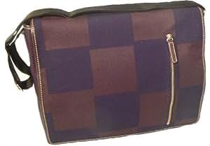 Acme Made Courier Gradual Squares 15.4-Inch Laptop Bag (Brown/Black)