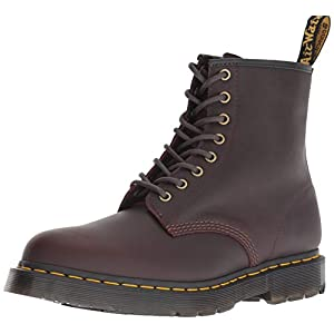 Dr. Martens, 1460 Original 8-Eye Leather Boot for Men and Women, Black Smooth, 5 US Women/4 US Men
