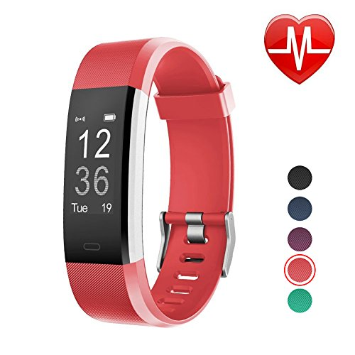 LETSCOM Fitness Tracker HR, Activity Tracker Watch with Heart Rate Monitor, Waterproof Smart Band with Step Counter, Calorie Counter, Pedometer Watch for Kids Women and Men, Android & iOS (Watch Activity Computer)