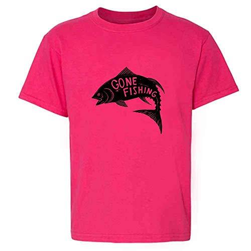 (Gone Fishing Retro Vintage Fisherman Pink 4T Toddler Kids T-Shirt)