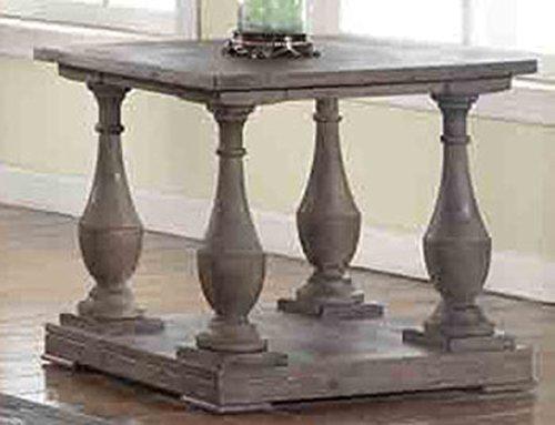 Best Master Furniture FW138 Farryn Rustic End Table, Weather Oak