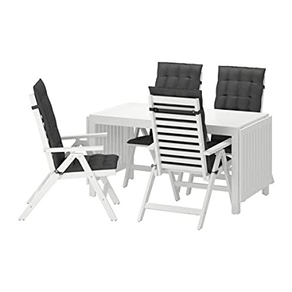 Excellent Amazon Com Ikea Table 4 Reclining Chairs Outdoor White Machost Co Dining Chair Design Ideas Machostcouk