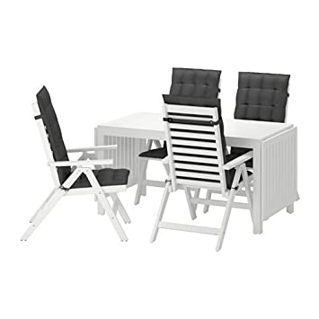 Amazon.com: IKEA mesa + 4 sillas reclinables, Exterior ...