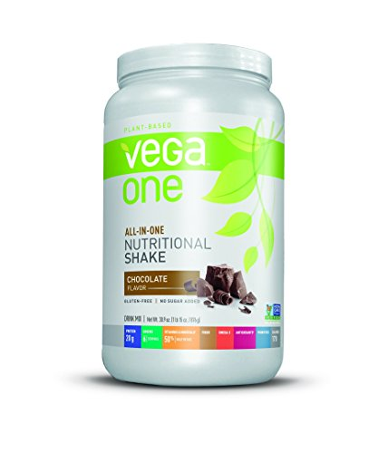 Vega One All-In-One Plant Based Protein Powder, Chocolate, 1.93 lb (19 Servings) (Hemp Protein Plus Fiber)