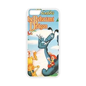 iphone6 plus 5.5 inch White phone case Classic Style Disney Cartoon Reluctant Dragon WHD8985767