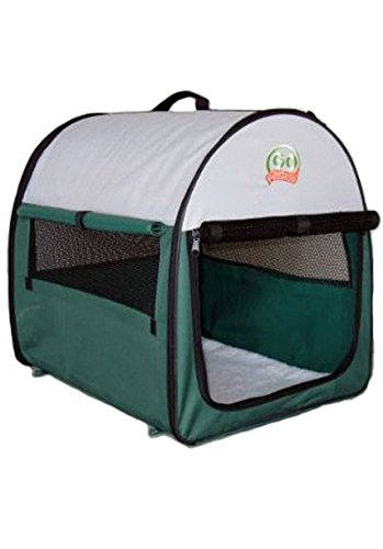 Go Pet Club Soft Crate for Pets, 32-Inch, Green - Large Portable Pet Crate