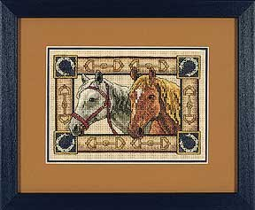 (The Gold Collections Petites Equine Pair Counted Cross Stitch Kit )