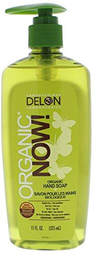 DELON LABORATORIES Organic Now Hand Soap, Clear, 11 Ounce