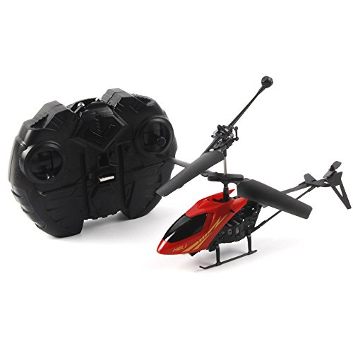 Hot Sale!UMFun RC 901 2CH Mini helicopter Radio Remote Control Aircraft Micro 2 Channel (Red)