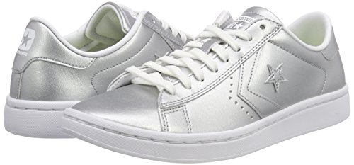 Metallic Leather Argento Converse Silver Sneaker Pro OaqwwEft