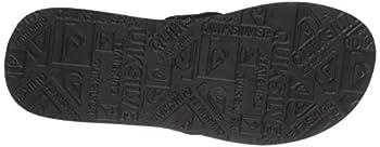 Quiksilver Men's Carver Suede 3-point Flip-flop, Solid Black, 14 M Us 2
