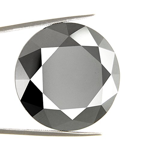 skyjewels 4.50 Ct RBC African Certified Loose Black Diamond by skyjewels