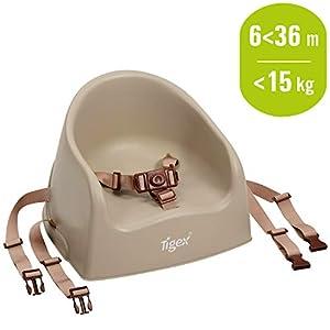 Tigex Rehausseur de Chaise Enfant, Compact et Facile à Transporter, 6-36 Mois (15kg), Taupe 5