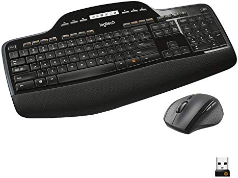 Logitech MK710 Combo Teclado y Ratón Inalámbrico para Windows, Conexión Inalámbrica Avanzada 2,4 GHz, Ratón Inalámbrico, Teclas Multimedias, Batería de 3 Años, PC/Mac, QWERTY US INTL, Color Negro: Logitech: Amazon.es: Informática