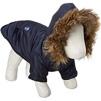 PetBoBo Cat Dog Doggie Down Jacket Hoodie Coat Pet Clothes Warm Clothing for Small Dogs Winter Black XS