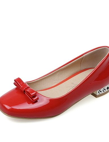 Punta mujer red red cn43 5 eu39 Semicuero eu42 uk8 de Blanco Planos 5 us10 5 eu42 Rojo Zapatos cn43 5 ZQ us8 Casual Negro us10 Bajo red 5 uk8 cn40 5 Redonda Tacón uk6 RpEHXZqwx