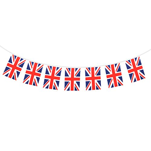 8.5 Meters Union Jack Flag Banners String 32 United Kingdom UK British Union Flag Bunting Banner Garlands For Garden Supermarket Party Bar Sports Club -