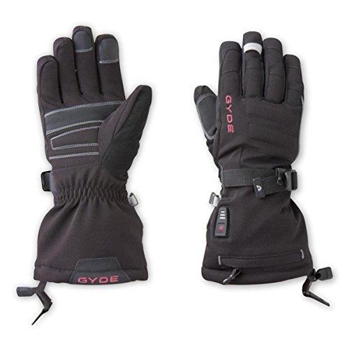 - Gyde S4 Women's Heated Gloves - Black/Pink-S