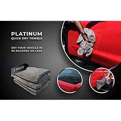"Platinum Quick Dry Towel - Scratch-Free, Plush, Silk Edges, Large Size - Pack of 2 (25 1/2"" x 36"