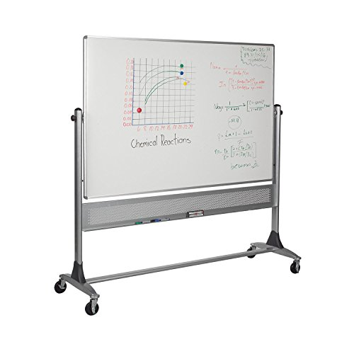 Balt Wall Mounted Mobile Porcelain Markerboard Both Sides Platinum Reversible Board 4'H x 8'W electronic consumers