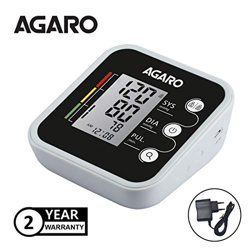 Agaro Automatic Digital Blood Pressure Monitor (Includes Adaptor, Carry Bag & Batteries) & AG Digital Thermometer DT-555
