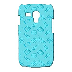 Samsung Galaxy S3 Mini Cute Blue Phone Case,Charming Light Blue Painted Pattern 3D Exquisite Premium Phone Back Case for Samsung Galaxy S3 Mini