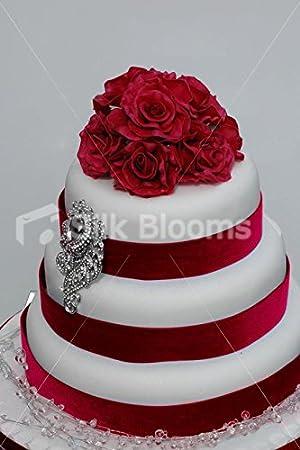 Silk Blooms Ltd Romantique Bordeaux Real Touch Rose