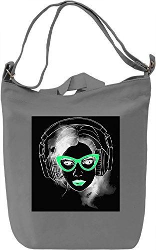 Girl With Sunglasses Borsa Giornaliera Canvas Canvas Day Bag| 100% Premium Cotton Canvas| DTG Printing|