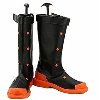 Poetic Walk My Hero Academia Katsuki Bakugo Cosplay Shoes Boots Custom (US 8.5(European 42), Black)