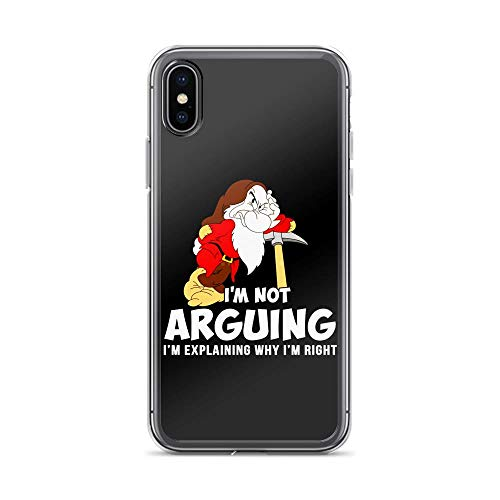 iPhone X/XS Pure Clear Case Cover Grumpy Dwarf I'm Not Arguing I'm Explaining Why I'm Right]()