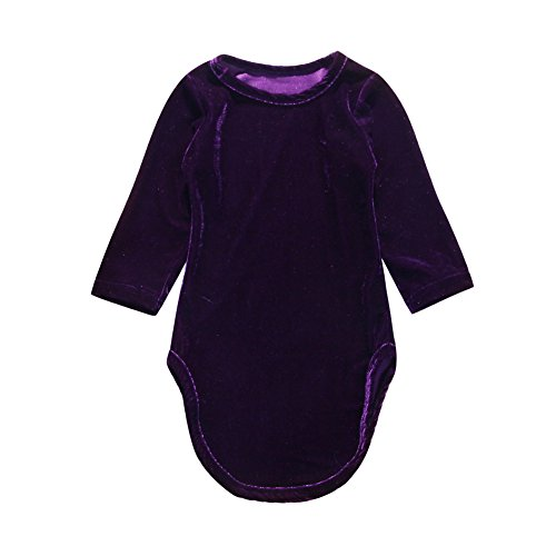 Kids Toddler Baby Girl Long Sleeve Velvet Mermaid Dress Fall Clothes 2-7Y (Purple, 2-3 Years) -