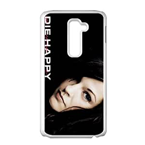 LG G2 Cell Phone Case Covers White Die Happy K6G6Z