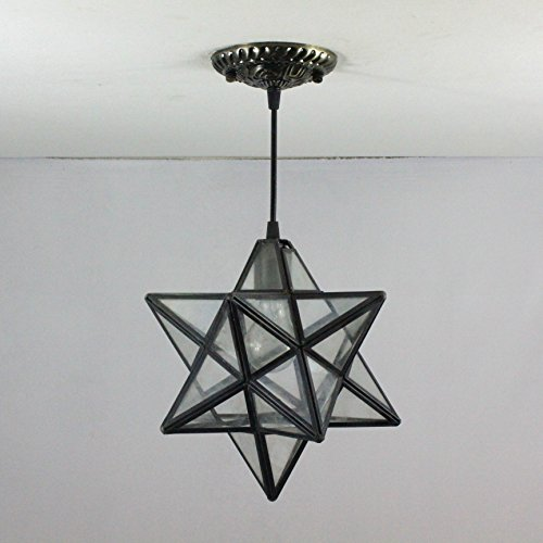 Chandelier 8-Inch European pastoral Star rays tiffany pendant light ceiling porch - Ray Tiffany