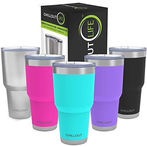 Stainless Steel Tumbler 30 oz with Splash Proof Lid &