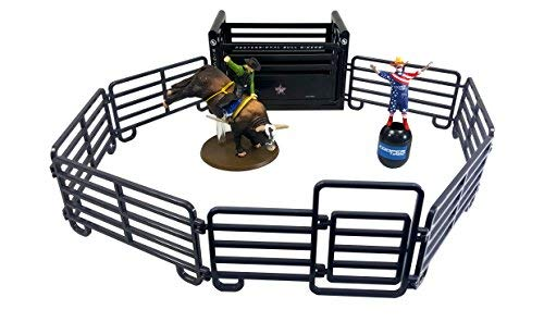 Big Country Toys PBR Rodeo Set - 1:20 Scale - Bushwhacker The Bull - Flint Rasmussen - Rodeo Toy Set ()